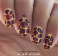 Маникюр с жирафом