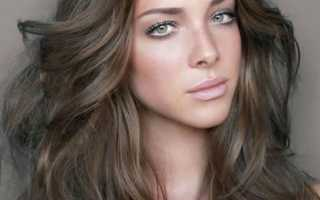 Окрашивание волос в темно русый цвет фото