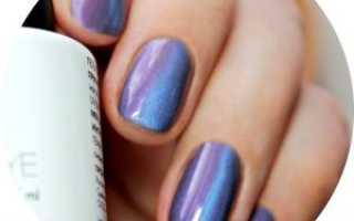 Дизайн ногтей с синим кошачьим глазом фото
