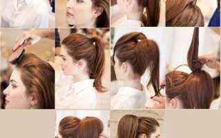Объемные хвосты для длинных волос