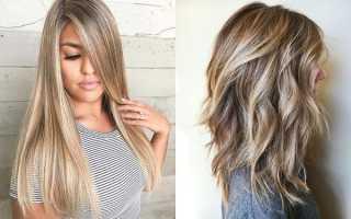 Мелирование на средние русые волосы