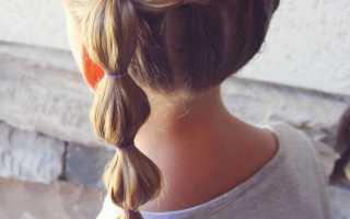 Прически для девочки с резиночками