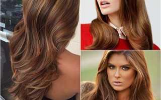 Коричнево каштановый цвет волос
