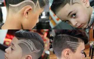 Молния на волосах для мальчиков