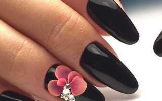 Дизайн ногтей с лепкой и стразами фото
