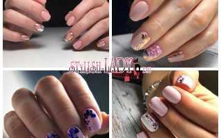 Дизайн ногтей с розовой фольгой