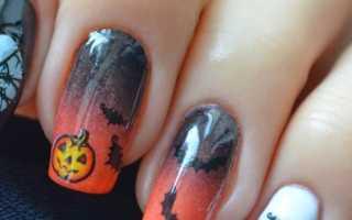 Дизайн ногтей на хэллоуин фото