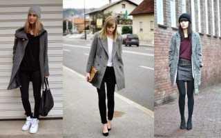 Какая обувь подходит под серое пальто