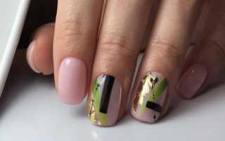 Гель на короткие ногти фото