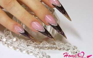 Дизайн ногтей на стилетах фото
