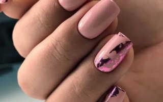 Дизайн ногтей с фольгой на гель фото
