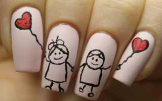 Гель лак рисунок на ногтях