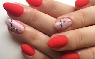 Дизайн ногтей красные матовые