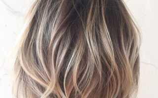 Каре на русых волосах