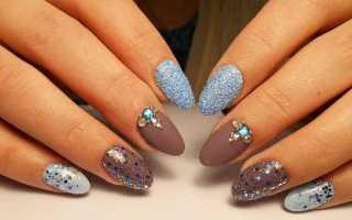 Дизайн ногтей блестящие