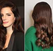 Каштановый цвет волос с рыжим оттенком фото