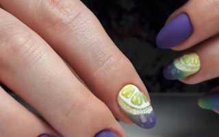 Дизайн ногтей фиолетовый цвет фото новинки