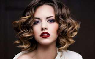 Модные укладки на средние волосы