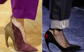 Какие носы у обуви в моде 2018