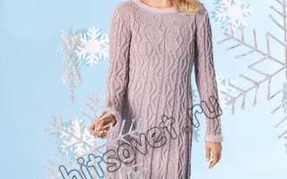 Вязаное платье на новый год