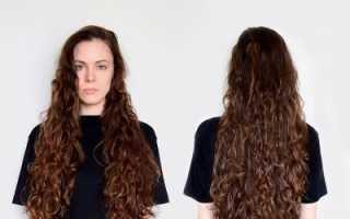 Накрутка длинных волос