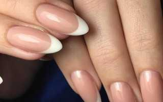 Дизайн ногтей френч миндалевидной формы