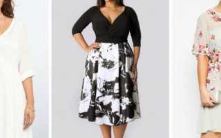 Модели нарядных платьев для полных женщин фото
