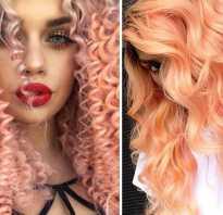 Персиковый цвет волос краска