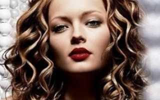 Химия крупными локонами на средние волосы фото