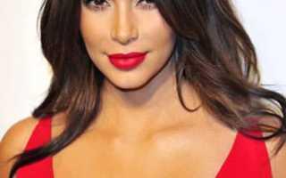 Макияж глаз под красное платье