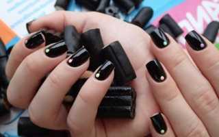 Темные ногти на руках дизайн