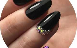 Дизайн ногтей на черном фоне фото