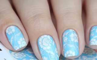 Дизайн ногтей в голубых тонах фото