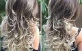 Коричнево фиолетовый цвет волос