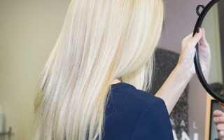 Тонировка желтизны волос