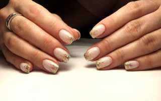 Дизайн ногтей френч с золотом фото