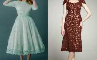 Вечерние платья с кружевом и гипюром фото
