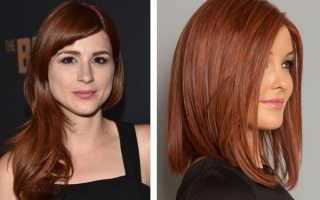 Каштановые волосы с рыжим оттенком