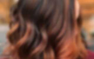 Балаяж на прямых волосах средней длины