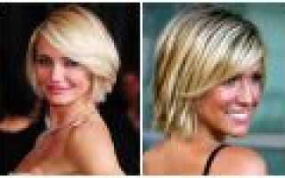 Каскад на короткие волосы без челки фото