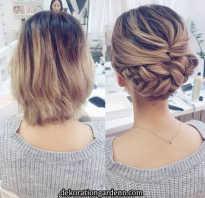 Прическа на короткий волос фото
