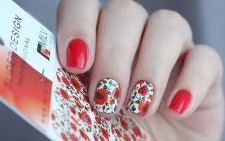 Дизайн ногтей роза