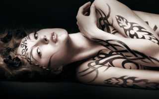 Распечатать татуировки черно белые для девочек