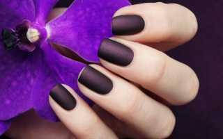 Дизайн ногтей баклажановый цвет