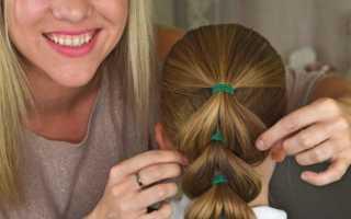 Легкие прически для девочек с средними волосами