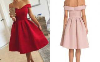 Короткое платье на выпускной с пышной юбкой