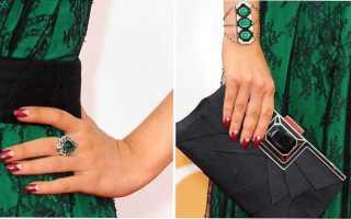 Цвет маникюра к зеленому платью