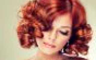 Огненно рыжие волосы
