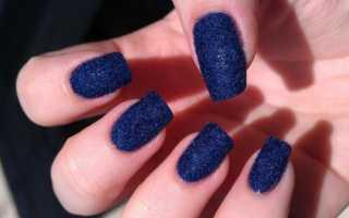 Дизайн ногтей бархатный песок фото