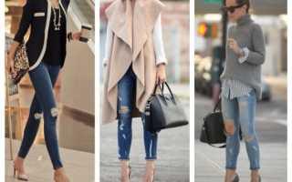 Обувь к узким джинсам женская